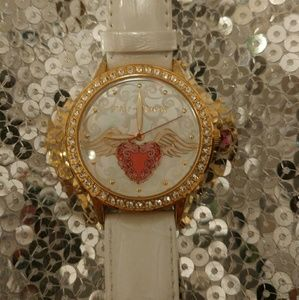 Betsey Johnson mother of pearl watch